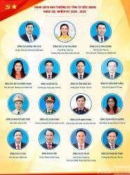 Danh sách Ban Thường vụ Tỉnh uỷ Bắc Giang khoá XIX, nhiệm kỳ 2020 - 2025