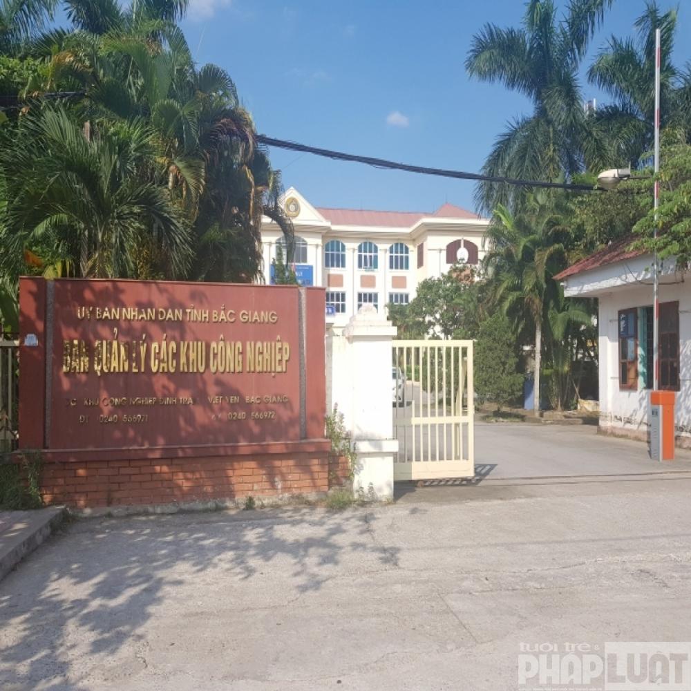 """""""Giới hạn"""" nào dành cho lãnh đạo Ban Quản lý các KCN tỉnh Bắc Giang"""