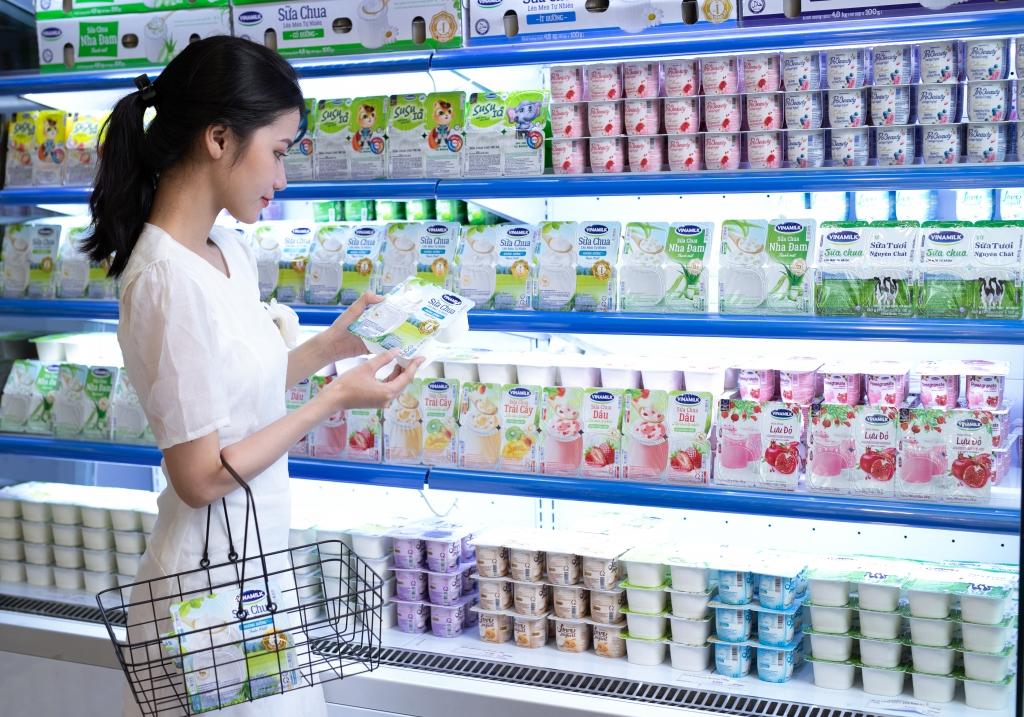 Các sản phẩm mới của Vinamilk đều nhanh chóng xuất hiện trên kệ cửa hàng Giấc Mơ Sữa Việt