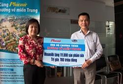 Gần 4 tỉ đồng của 10.000 cán bộ, công nhân viên Vinamilk hỗ trợ  đồng bào miền Trung