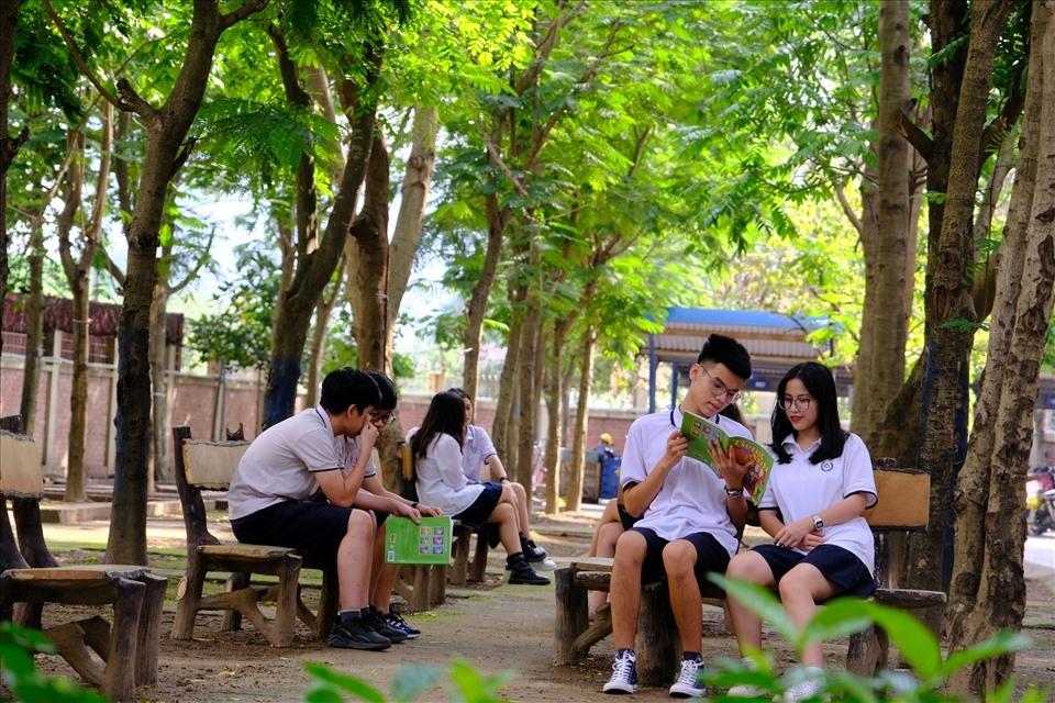 Không gian xanh mát tại trường PTTH Lương Thế Vinh, Hà Nội - một trong nhiều ngôi trường trên cả nước mà chương trình đã trao tặng cây xanh