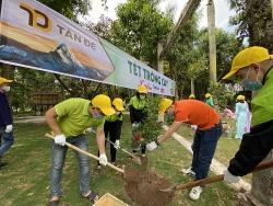 Tân Đệ trồng hơn 1.000 cây xanh khởi đầu xuân mới