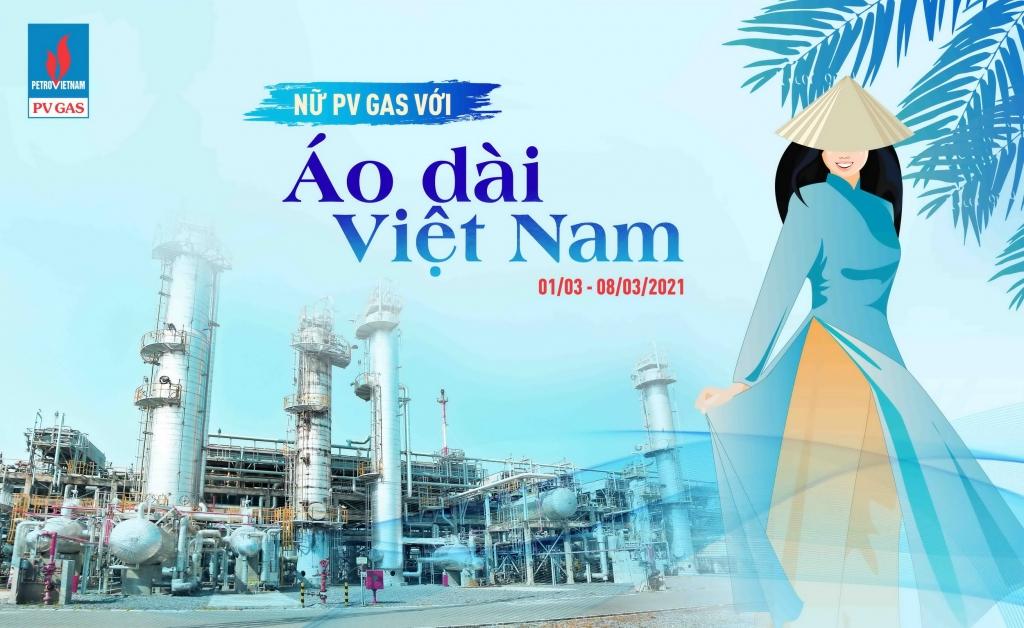 Poster hưởng ứng Tuần lễ Áo dài tại PV GAS