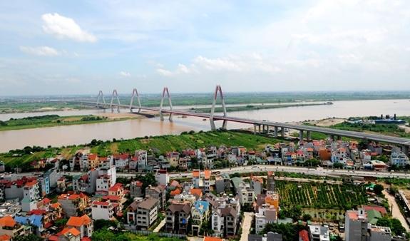 Quy hoạch phân khu sông Hồng sẽ tạo lập diện mạo đô thị hai bên sông Hồng. Ảnh: nhandan.com.vn.