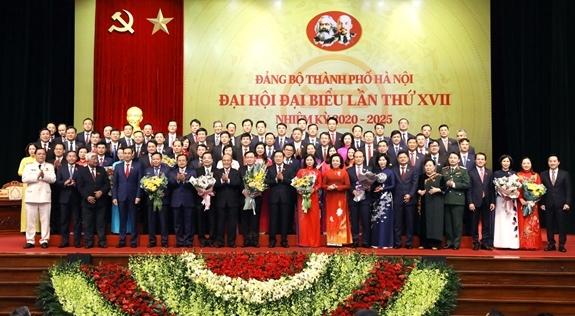 Đại hội Đại biểu lần thứ XVII nhiệm kỳ 2020-2025 của Đảng bộ Thành phố Hà Nội thành công tốt đẹp. Ảnh: hanoimoi.com.vn.