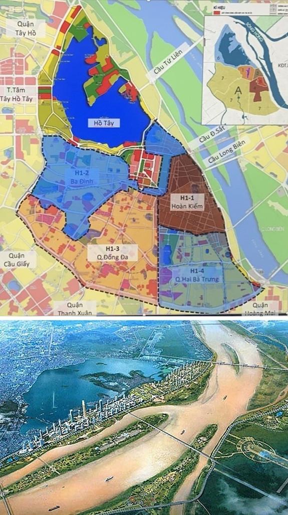 Lần đầu tiên, Hà Nội sẽ có 6 quy hoạch phân khu 4 quận nội đô lịch sử và Quy hoạch phân khu đô thị sông Hồng. Ảnh: hanoimoi.com.vn.