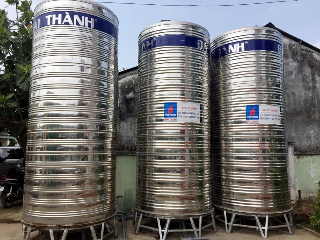Các bồn lọc nước mới trong hệ thống