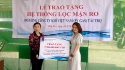 PV GAS hỗ trợ thêm 2 hệ thống lọc nước ngọt giúp tỉnh Bến Tre đối phó hạn mặn