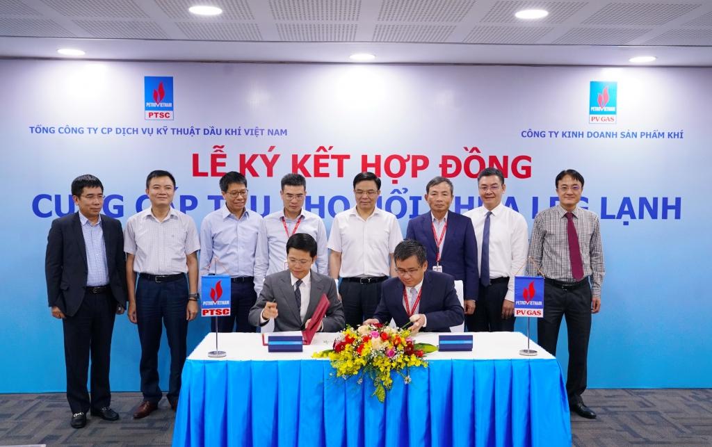 Nghi thức ký kết Hợp đồng cung cấp tàu kho nổi chứa LPG lạnh tại khu vực phía Bắc