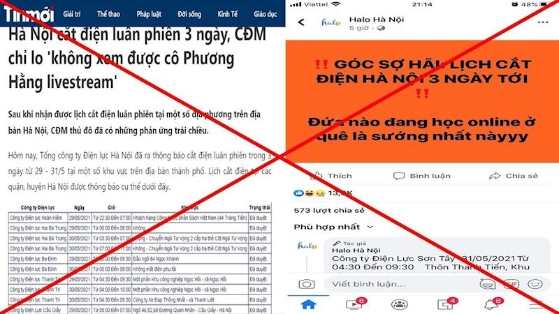 """EVNHANOI khẳng định không có việc """"cắt điện luân phiên"""" trên lưới điện Hà Nội"""