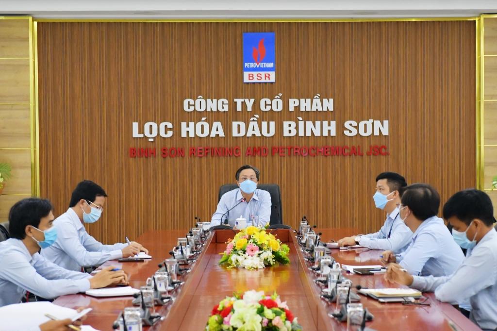 Phó Tổng Giám đốc BSR Bùi Ngọc Dương phát biểu tại cuộc họp trực tuyến về phòng chóng dịch Covid-19.