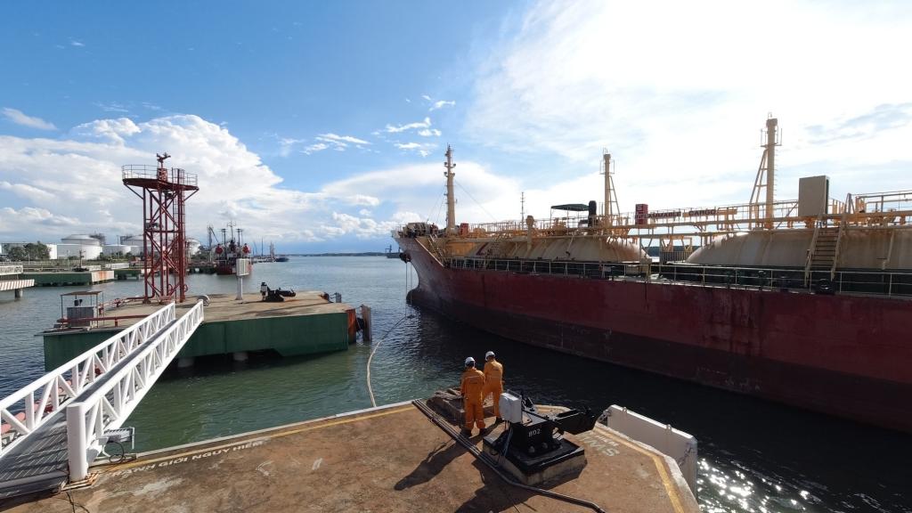 Một góc cảng PV GAS Vũng Tàu