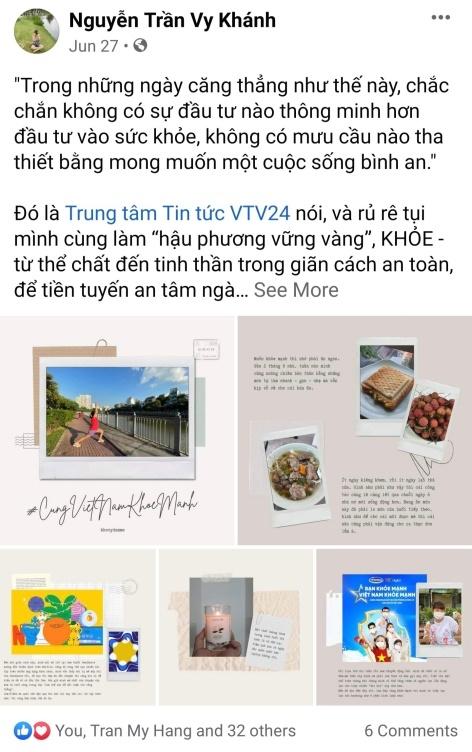 """Hình 3: Chuyên mục """"Năm món đam mê"""" của Khánh Vy được nhiều bạn bè đón theo dõi"""