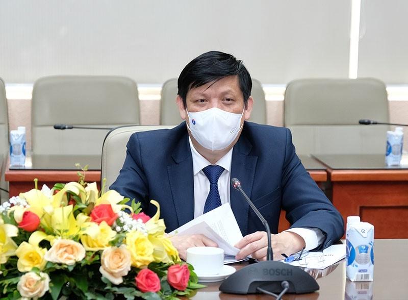 GS.TS Nguyễn Thanh Long - Bộ trưởng Bộ Y tế phát biểu tại buổi tiếp