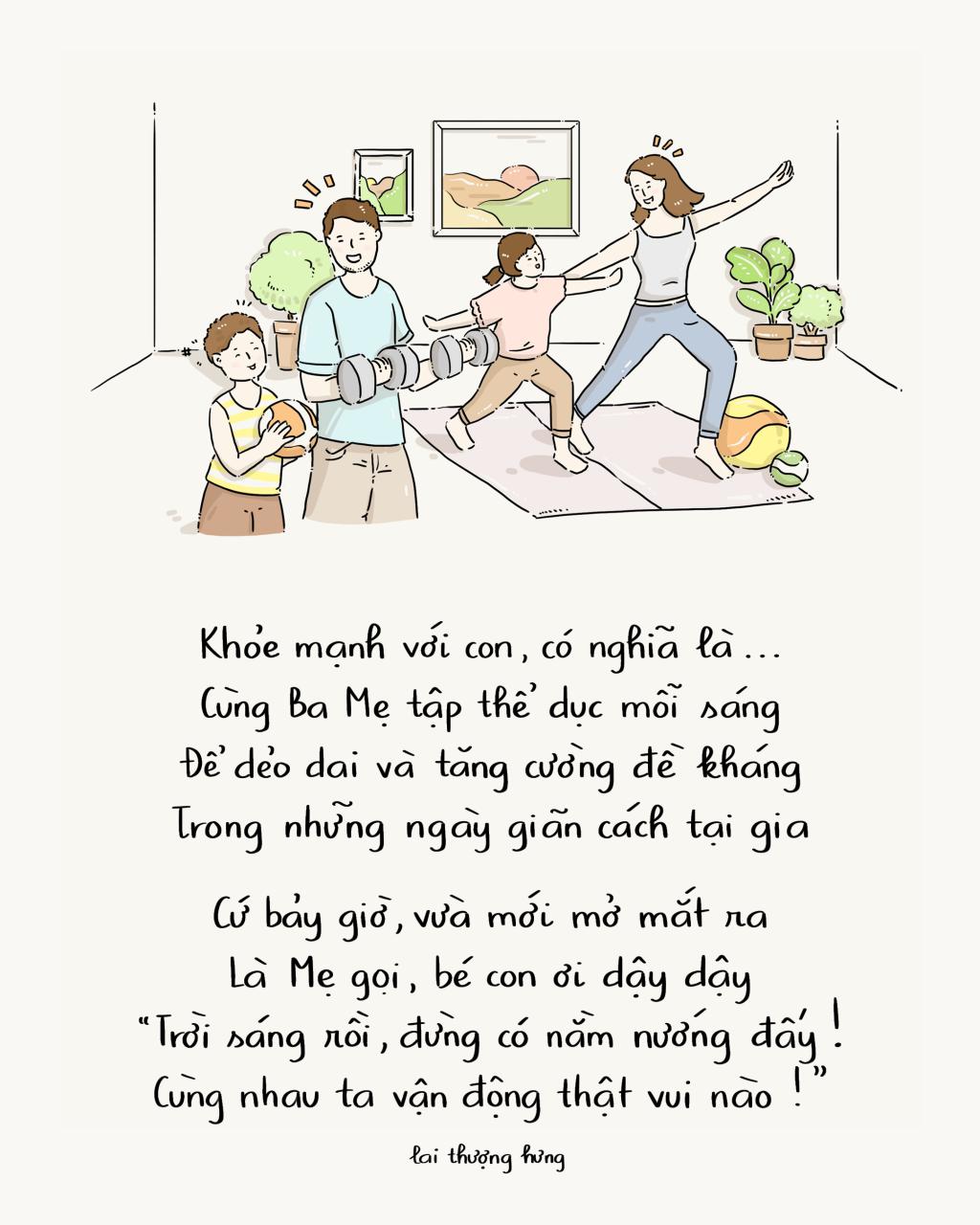 Mong muốn về cuộc sống khỏe mạnh của trẻ em trong mùa dịch qua góc nhìn hội họa