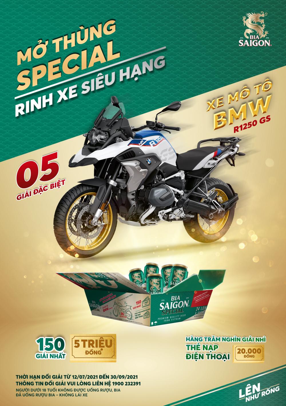 """""""Mở thùng Special, Rinh xe siêu hạng"""" với hơn 5 tỷ đồng quà tặng từ Bia Saigon"""