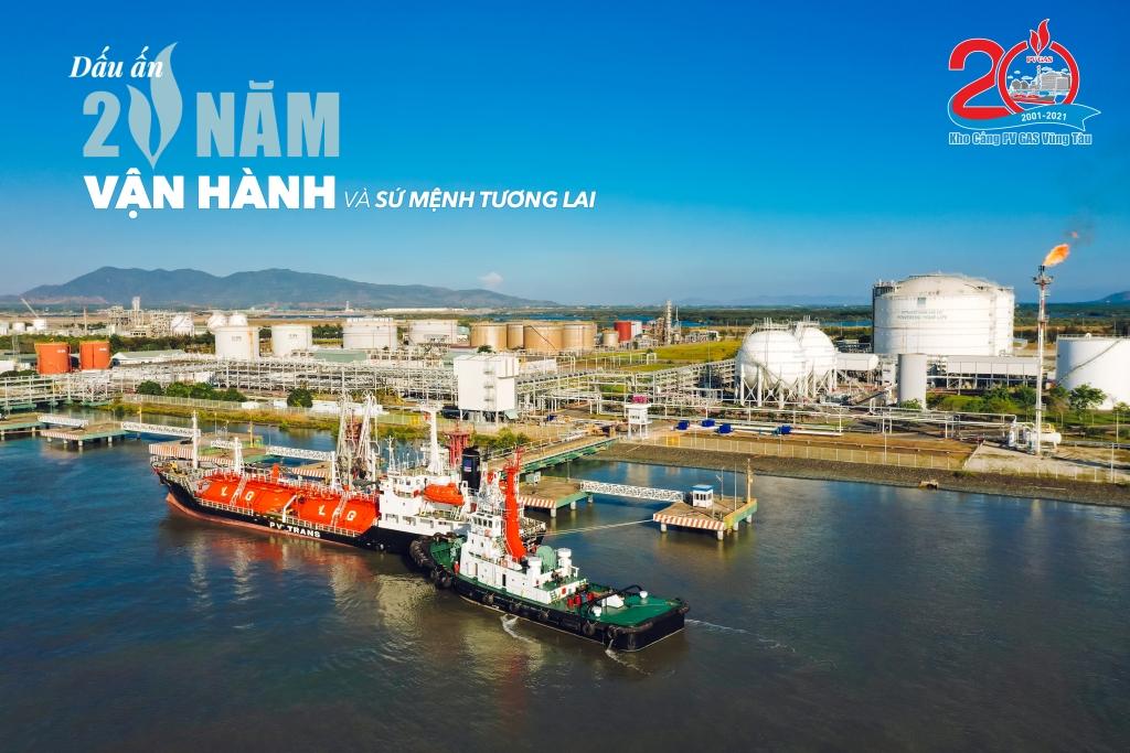 Biểu trưng 20 năm Kho cảng PV GAS Vũng Tàu
