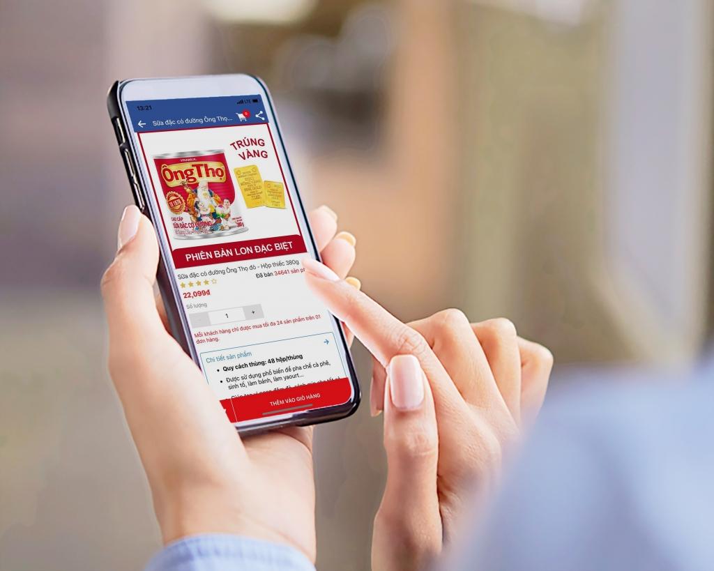 Người tiêu dùng có thể tìm mua Sữa đặc Ông Thọ Lon phiên bản đặc biệt trên toàn quốc, đặc biệt dễ dàng mua hàng ngày tại nhà thông qua kênh mua sắm trực tuyến hoặc ứng dụng di động Giấc Mơ Sữa Việt