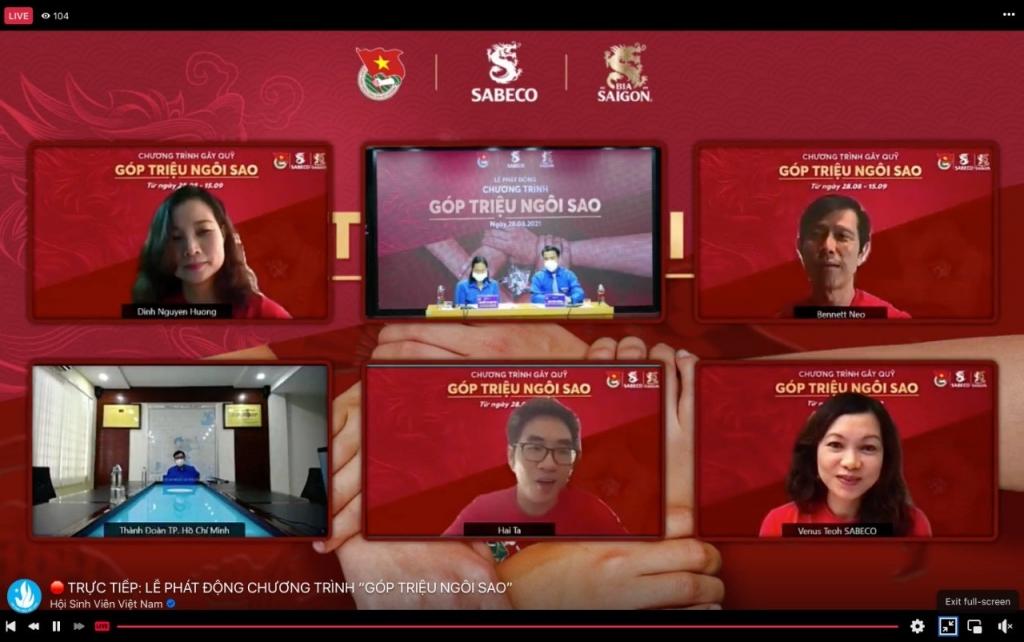 Lễ phát động được diễn ra trực tuyến trên Fanpage của Bia Saigon