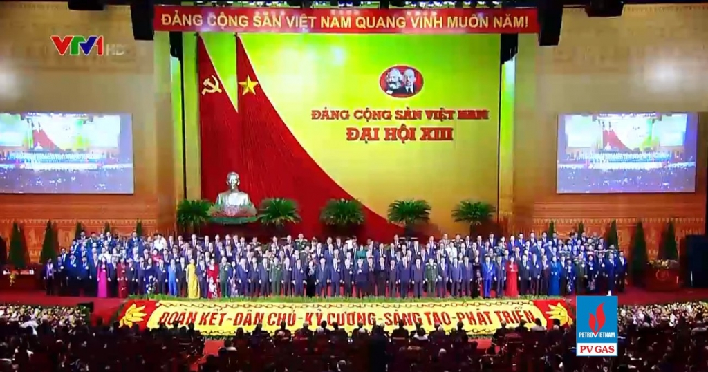 Rất nhiều mốc son lịch sử được nhắc nhớ trong Chương trình, trong đó có hình ảnh Đại hội ĐB toàn quốc lần thứ 13 của Đảng CSVN