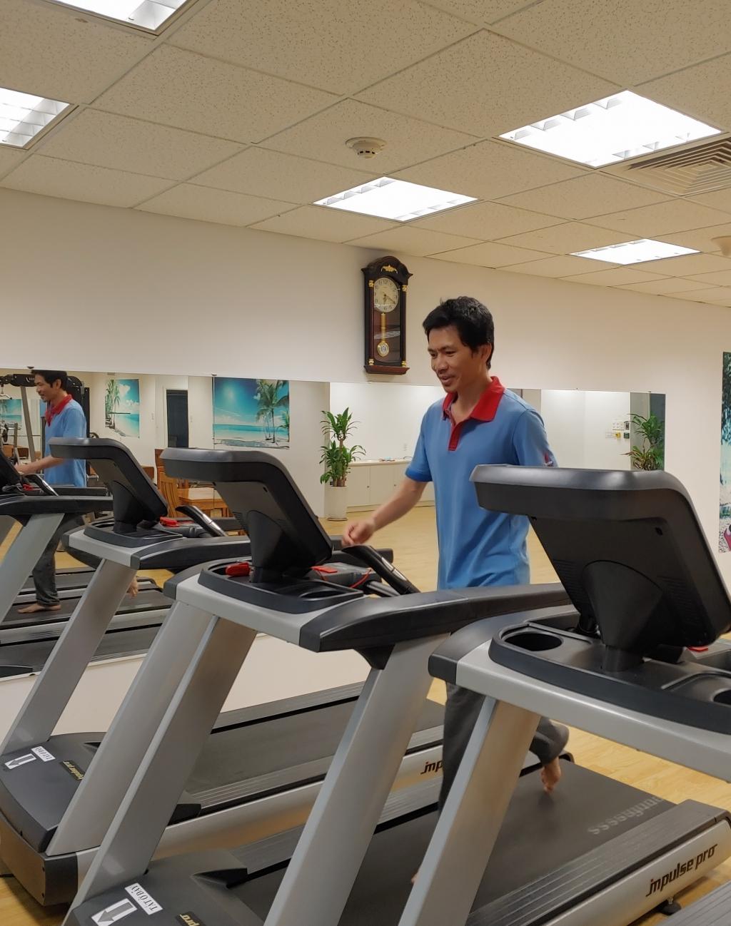 Thời gian nghỉ ngơi được giành cho luyện tập tăng cường sức khỏe