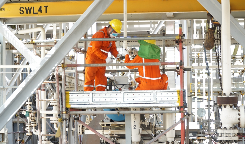 gười Lao động PV GAS nỗ lực hoàn thành nhiệm vụ trong điều kiện phòng chống đại dịch