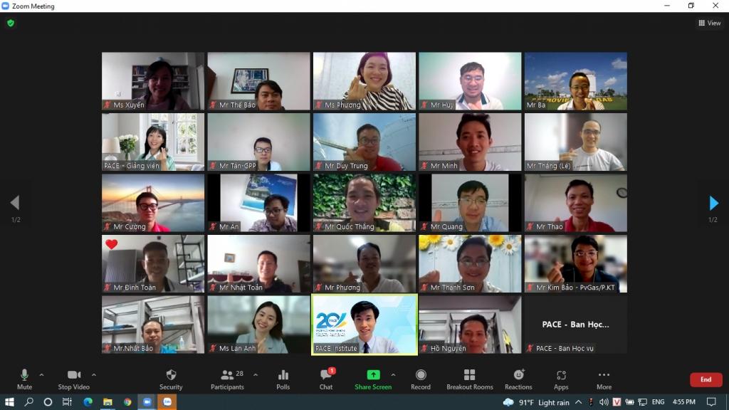 Hình ảnh khóa đào tạo trực tuyến do KCM phối hợp thực hiện năm 2021