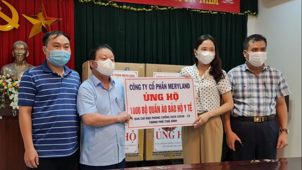 Công ty Cổ phần Việt Xô Gas tích cực ủng hộ Thái Bình phòng, chống dịch Covid-19