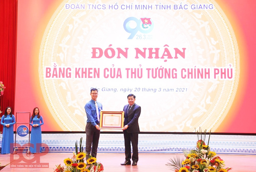 Tỉnh đoàn Bắc Giang vinh dự đón nhận Bằng khen của Thủ tướng Chính phủ