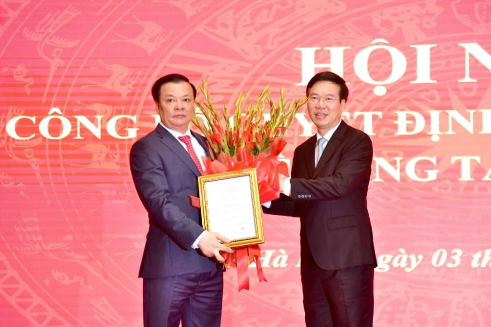 Đồng chí Đinh Tiến Dũng được Bộ Chính trị phân công làm Bí thư Thành ủy Hà Nội