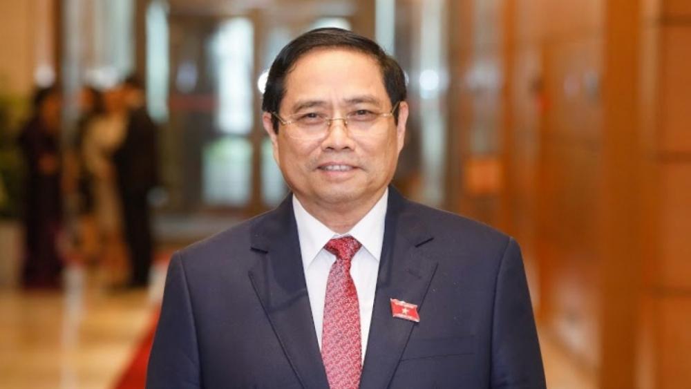 Ủy viên Bộ Chính trị, Trưởng Ban Tổ chức Trung ương Phạm Minh Chính được giới thiệu để bầu Thủ tướng Chính phủ