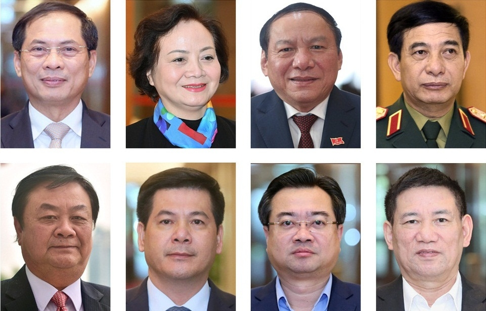 Chính phủ có 12 Bộ trưởng, trưởng ngành mới