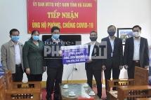 Công ty Điện lực Hà Giang ủng hộ quỹ phòng, chống dịch COVID-19 của tỉnh