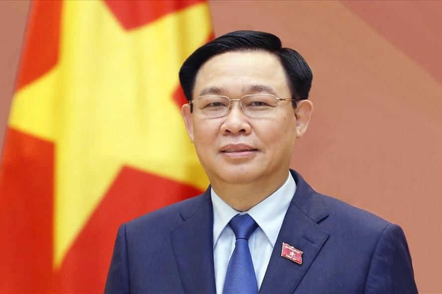 Ủy viên Bộ Chính trị, Chủ tịch Quốc hội Vương Đình Huệ, Chủ tịch Hội đồng Bầu cử quốc gia. Ảnh: Thành Chung