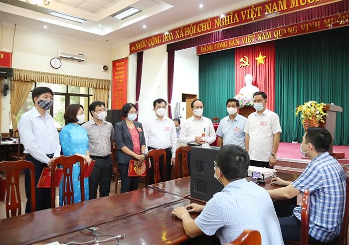Kiểm tra công tác bầu cử tại huyện Thường Tín