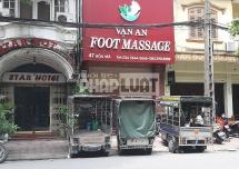 ha noi quan foot massage van an hoat dong sai phep lam loan pho hoa ma