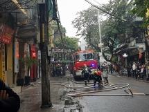 Diễn tập chữa cháy tại khu tập thể nhà phố cổ