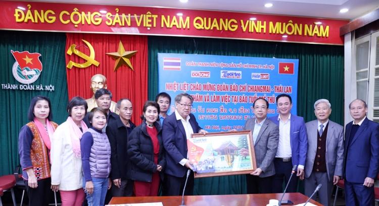 Báo Tuổi trẻ Thủ đô tiếp đoàn nhà báo tỉnh ChiangMai – Thái Lan
