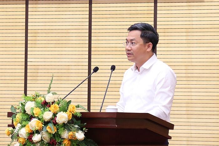 Phó Chủ tịch UBND TP Hà Minh Hải phát biểu tại hội nghị