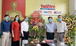 Lãnh đạo TP Hà Nội thăm, chúc mừng báo Tuổi trẻ Thủ đô