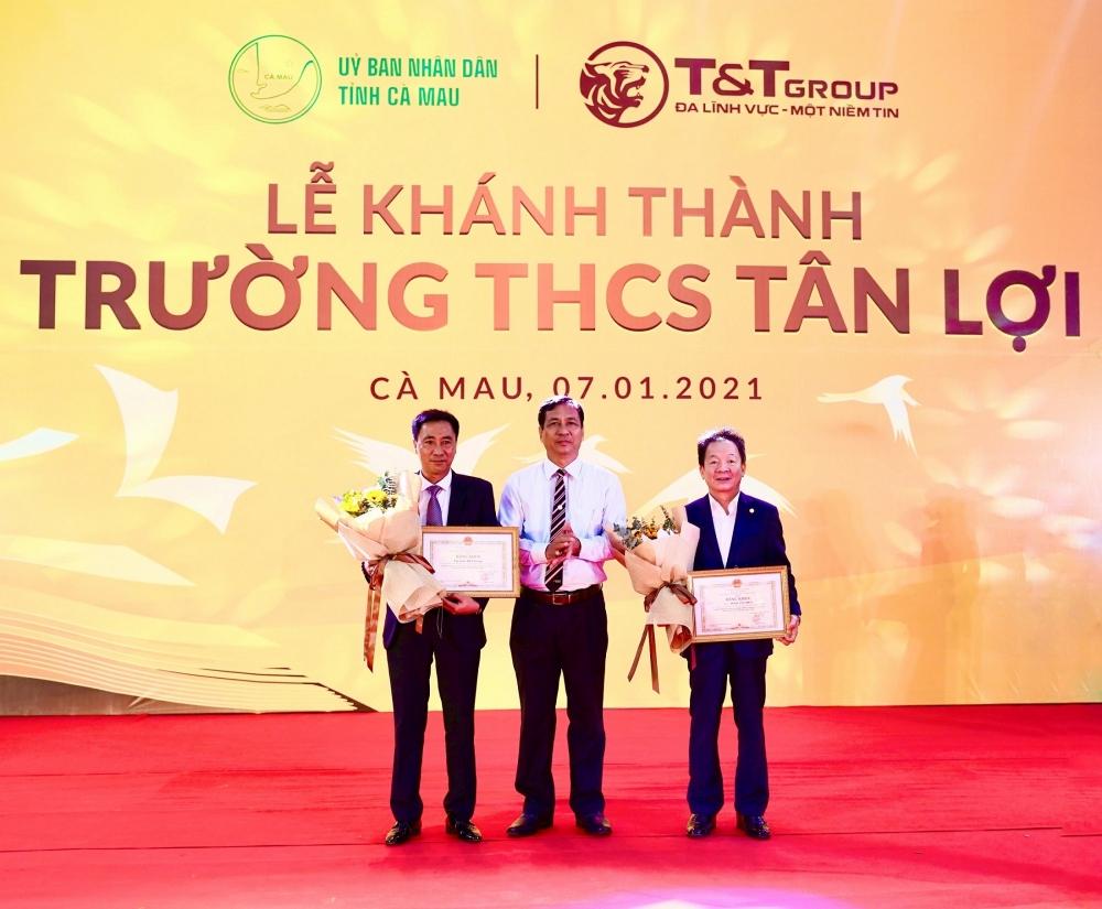 Tập đoàn T&T tài trợ xây dựng trường học tại tỉnh Cà Mau