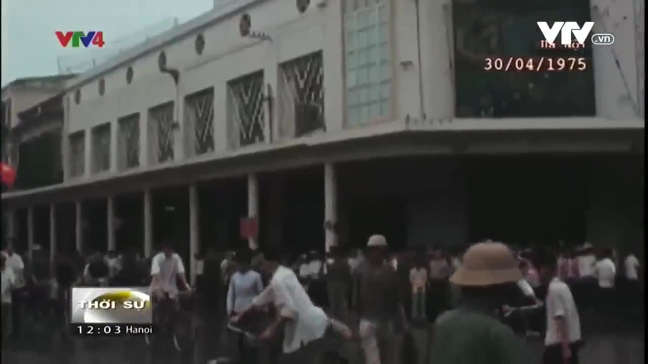 Thước phim lịch sử giây phút thống nhất đất nước 30/4/1975
