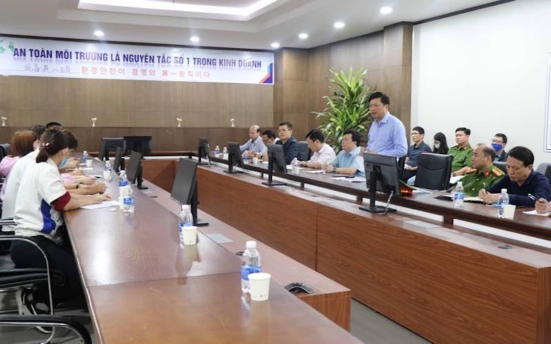 Phó Chủ tịch tỉnh Bắc Ninh chỉ đạo khắc phục hậu quả vụ cháy ở KCN Vsip