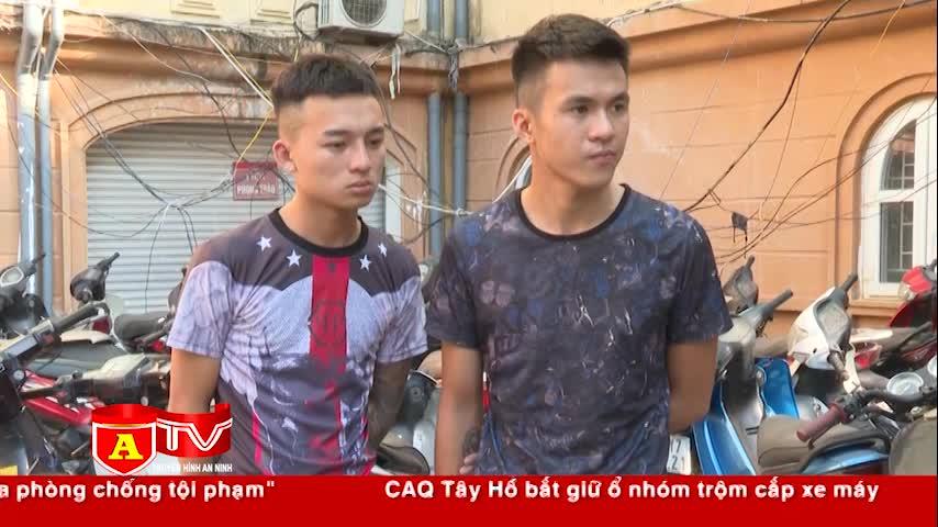 ha noi bat giu nhom doi tuong chuyen trom xe may tai cac khu nha tro