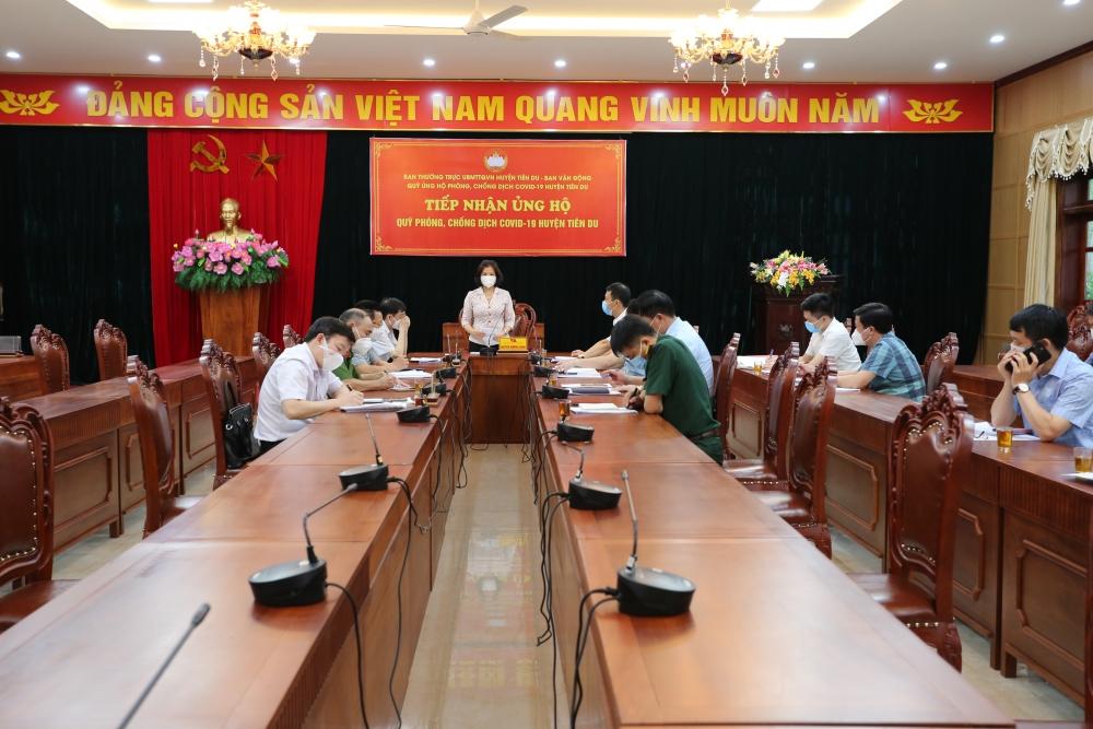 Bắc Ninh: Yêu cầu huyện Tiên Du tiếp tục nâng cao công tác phòng, chống dịch Covid-19