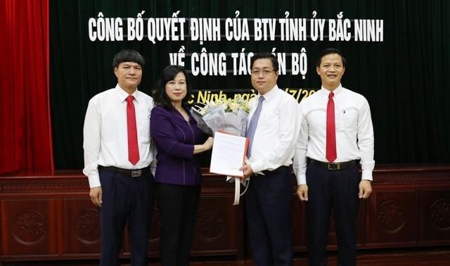 Ông Nguyễn Nhân Chinh được điều động làm Bí thư Thành ủy Bắc Ninh