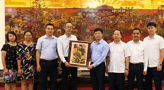 Phó Chủ tịch tỉnh Bắc Ninh tiếp đón Bộ Tài nguyên và Môi trường Nhật Bản