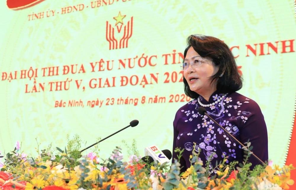 Phó Chủ tịch nước đánh giá cao phong trào thi đua yêu nước của tỉnh Bắc Ninh