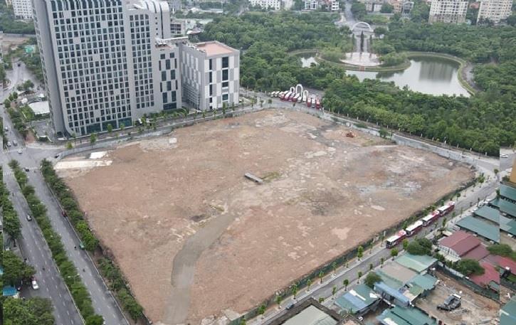Cận cảnh ô đất 4 mặt tiền xây dựng công trình Đại sứ quán Mỹ tại Hà Nội