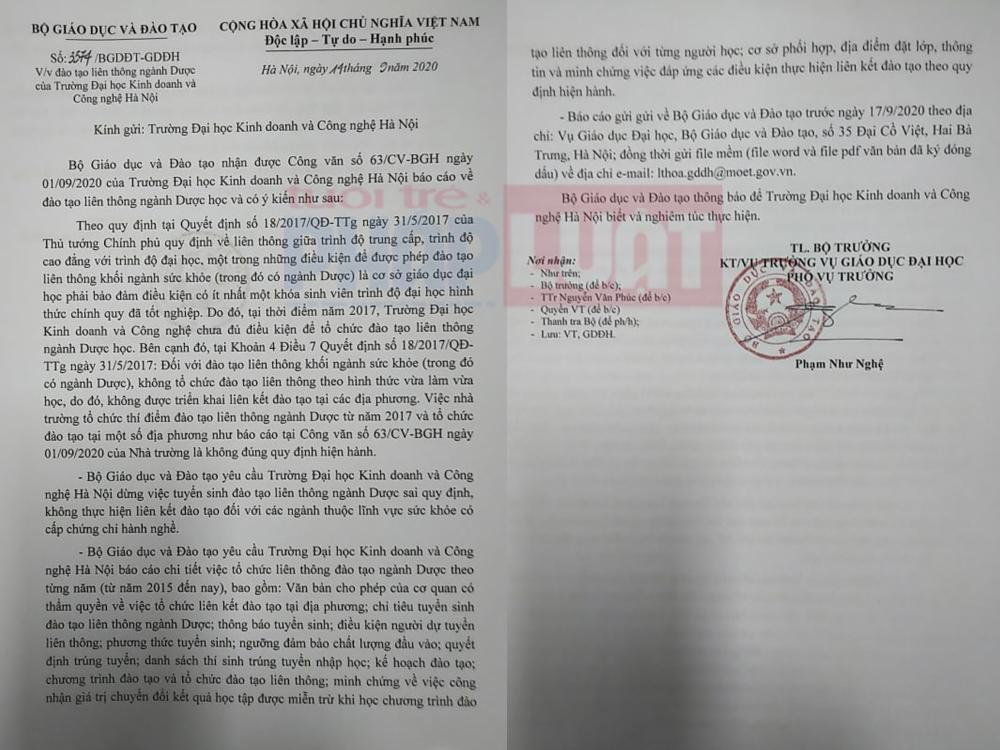 """Trường Đại học """"Kinh - Công"""" tuyển sinh liên thông bất chấp quy định của Chính phủ"""